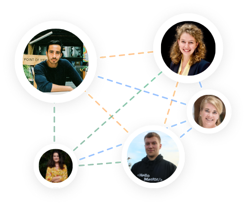 Connections made between mentees and mentors